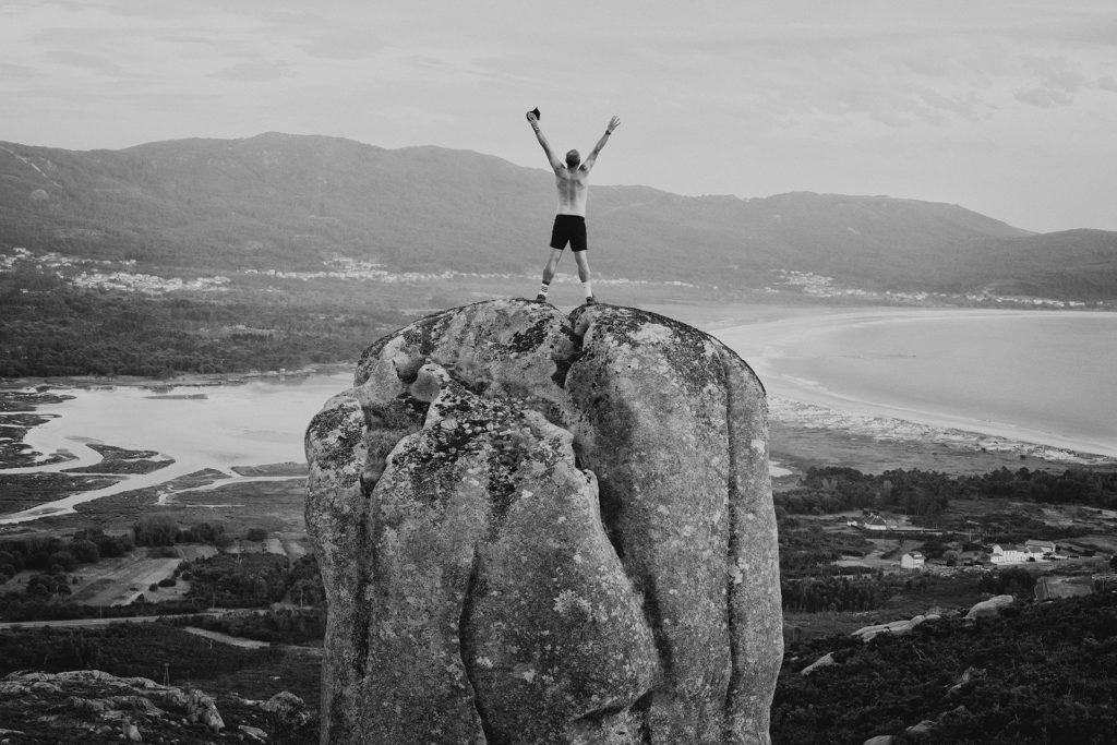 Marcos Rodríguez fotógrafo en el Monte Pindo Costa da Morte